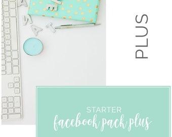 Custom Facebook Starter Plus Social Media Templates   Business Branding   Social Media   Branding