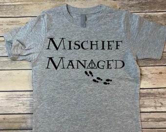 Harry Potter Mischief Managed kids shirt, Marauders Map, Hogwarts