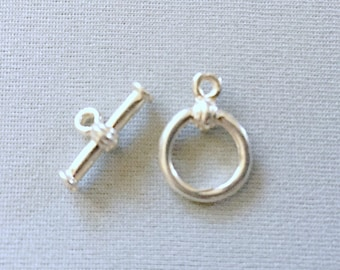Small Sterling Silver Toggle Clasp