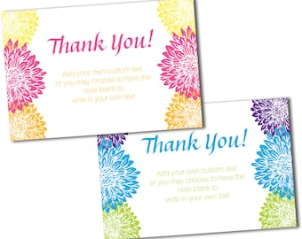 Bright Floral Thank You Cards