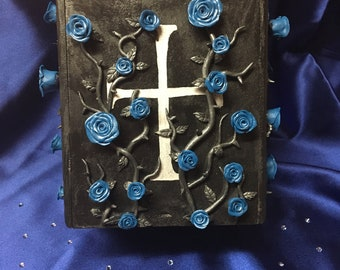 Blue Rose Coffin Box