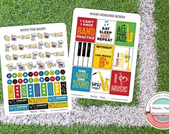 With the Band Planner Sticker Kit