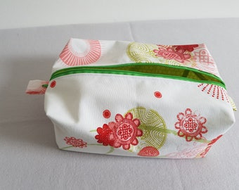 Cosmetic Women Bag Soft XXL Cotton Fabric Zipper Make-up Pouch Cosmetic Bag