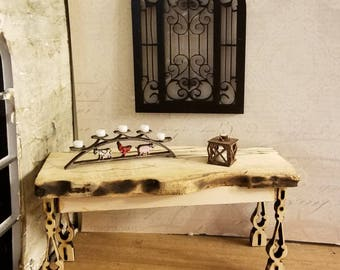 Miniature dollhouse distinctive wrought iron atyle decorative piece for interior or exterior