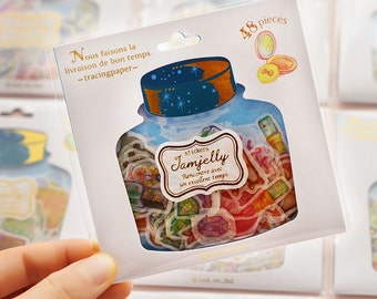 Jamjelly sticker. Assorted sticker. cute sticker. Jar sticker
