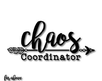 Chaos Coordinator with Boho Feather Arrow (match with Chaos Creator sold sep) SVG, EPS, dxf, png, jpg digital cut file for Silhouette Cricut