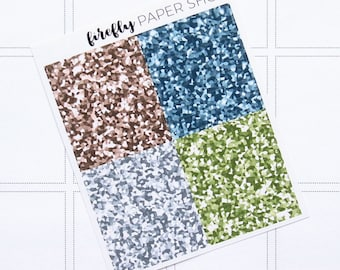 Fresh Start Glitter Headers (stickers for Erin Condren Life Planner - Vertical)