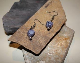 purple marbled stone stone
