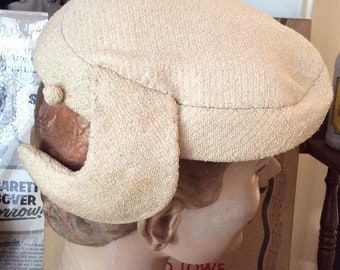 Vintage 1950s Hat Cream/Ecru Color Label Is: Studio Stella Fraenkel Comes With An Matching Hat Pin (Lucy Style)