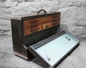 Carpenters Tools Box Trunk Chest Pine Drawers Industrial Furniture
