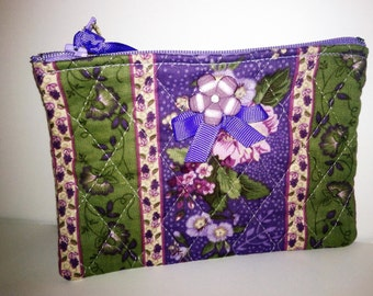 Quilted, Zippered  Bag