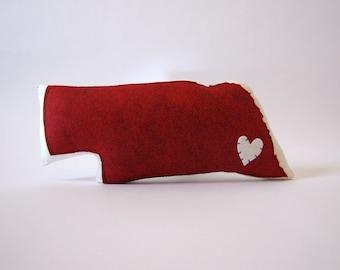 Customizable Nebraska State Pillow