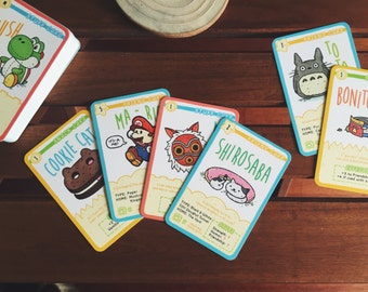Tradey Cardy MYSTERY PACK: 5 Mini Trading Cards