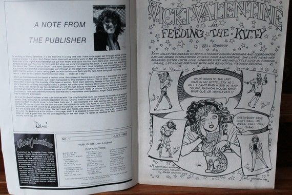 vicki valentine comic books bill woggon set of 12 no 1 july 1985 first edition renegade press - Vicki Valentine