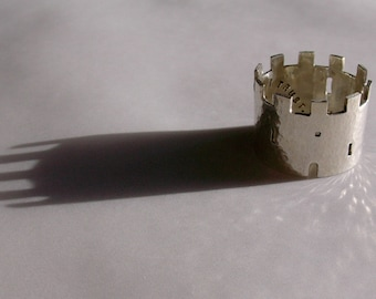 Silver Castle Ring
