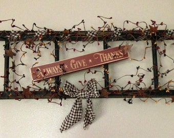 Colonial colored berry ladder with sign - Your choice of saying!