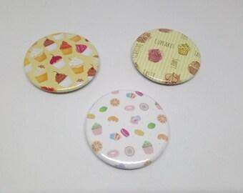 Lot 3 37mm fridge magnets