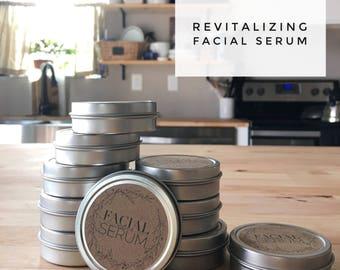 All natural revitalizing facial serum