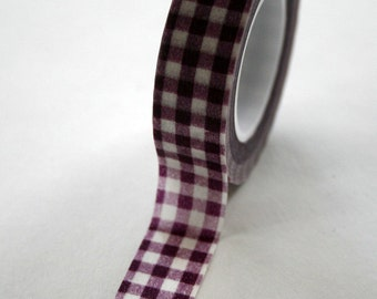 Washi Tape - 15mm - Deep Purple Gingham Check - Deco Paper Tape No. 81