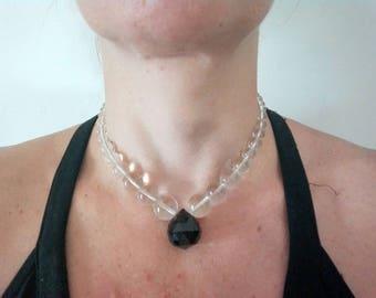 Vintage Crystal collier ,collier in cristallo vintage,elegante collier