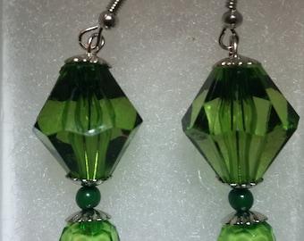 Green Fashion Earring