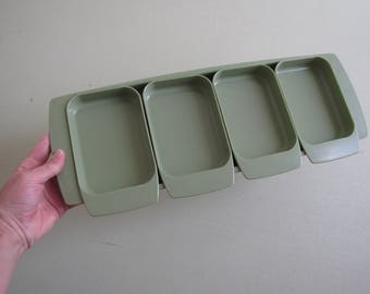 Vintage Lady Arnold Green Melmac - Appetizer Tray - Serving Tray