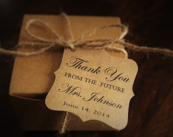 Bridal Shower Thank You Favor Tags-bride to be- future Mrs.