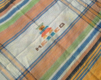 Vintage Lightweight Mexico Woven Throw