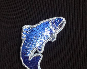 Jumping fish brooch, fish brooch, fish pin, Christmas gift, gift for her, brooch, jewelry, stocking stuffer