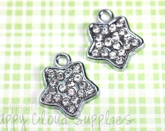 Evening Star Rhinestone Charms... 2pcs