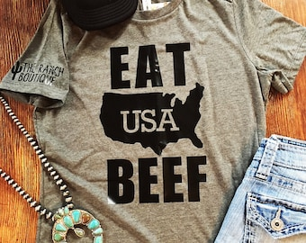 Eat USA Beef tee ~made to order