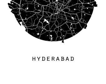 Hyderabad Map, World Map, India Map, Maps, Black And White Map, Minimalistic Map, Minimal Map, Black Map,White Map,Minimal India Map