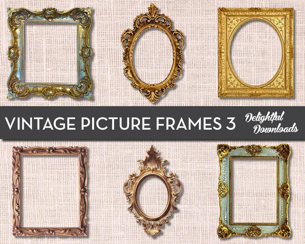 Antike Vintage Bilderrahmen ClipArt VOL 3 für digitale