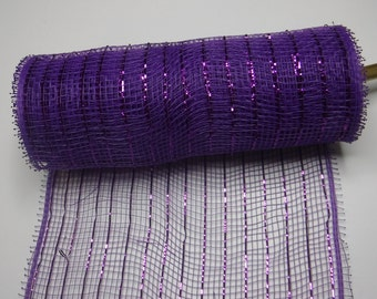 Purple Decorative Mesh 5 Yards
