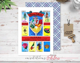 Mexican Loteria Fiesta Invitation - Loteria Birthday Fiesta Invitation - Loteria Bridal Fiesta - Baby Shower Fiesta Invitation DIGITAL FILE