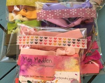 You Choose 50 Colors - Elastic Ponytail Holders - Colorful Elastic Hair Ribbons