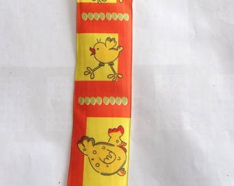 5 meters of Ribbon patterns fancy hens and chicks REF. 1700