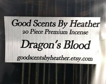 Dragon's Blood Incense Sticks - 20 piece