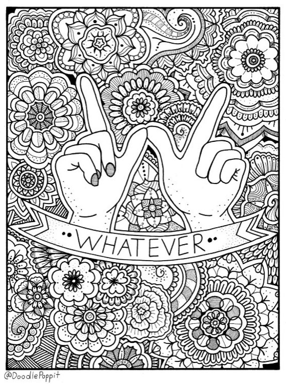 adult coloring pages download | WHATEVER Coloring Page Coloring Book Pages Printable Adult