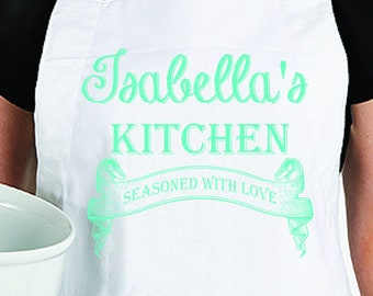 Personalized Apron - Personalized Made With Love Apron - Personalized Womens Apron - Gift for Her