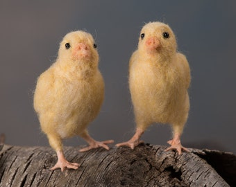 Easter chick wool felted handmade bird