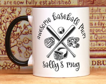 Baseball Mom gift for Mom baseball mom mug  personalized baseball mug baseball gifts for her gift for mom from son awesome baseball Mom