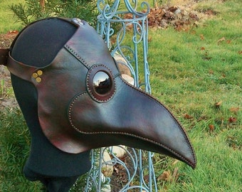 Plague Doctor Leather Mask MADE TO ORDER Renaissance style You Choose The Specifics