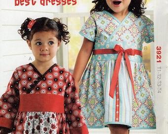 Kwik Sew 3921 Size 1T-4T Girl's Kelsey's Best Dresses Sewing Pattern / Uncut FF