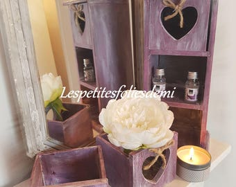 """Box drawers shabby chic """"scents"""""""