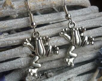 Frog Earrings, Tree Frog Earrings, Frog Lover, Animal Jewellery