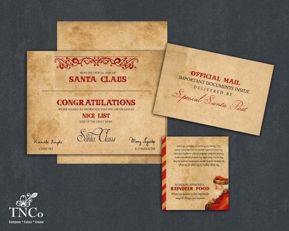 Santa letter printable santa claus letter reindeer food bag header this is a digital file spiritdancerdesigns Choice Image