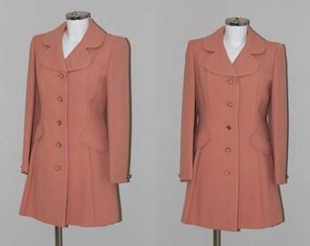 Vintage 1960s Mod Wool Coat / cheap vintage / affordable vintage