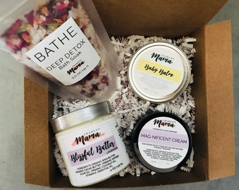 New Mom, Mom To Be Gift Basket, Vegan Gift Set For Her, Pregnancy Gift Box, Bath Gift Box, Magnesium Cream, Spa Gift Set, Birthday Gift