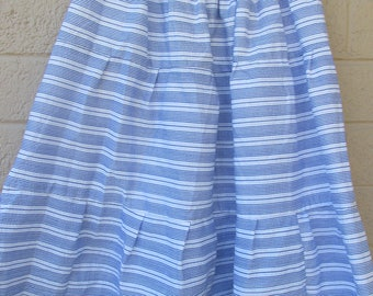 blue and white striped skirt fits small to medium